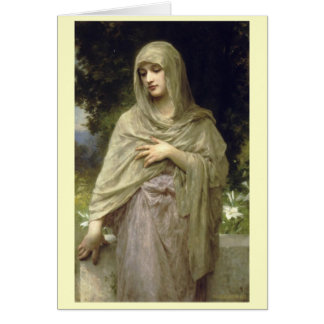 Modesty - William-Adolphe Bouguereau Hälsningskort