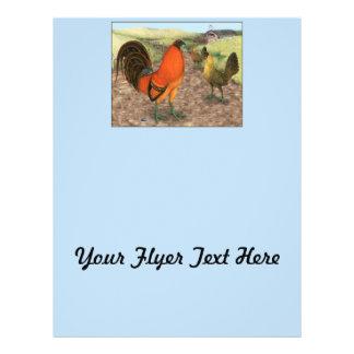 Modig fågel på lantgården reklamblad