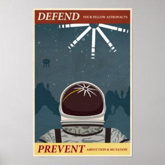 Modig propagandaaffisch tionde för galleri i en poster