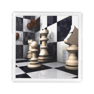 Modig schackstil bricka