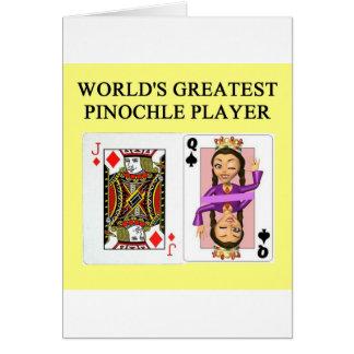 modig spelare för pinochle hälsningskort
