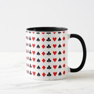 Modiga kortsymboler för poker mugg