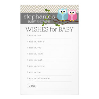 Modigt önskemål för baby shower reklamblad 14 x 21,5 cm