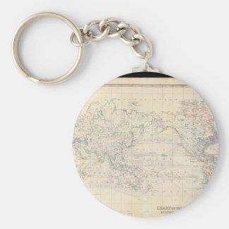 Mognad världskarta 28 rund nyckelring
