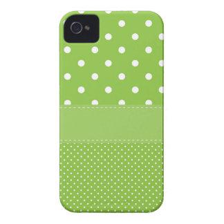 Möhippa eller baby shower för grön polka dots iPhone 4 case