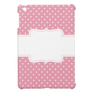 Möhippa eller baby shower för rosa polka dots iPad mini mobil fodral