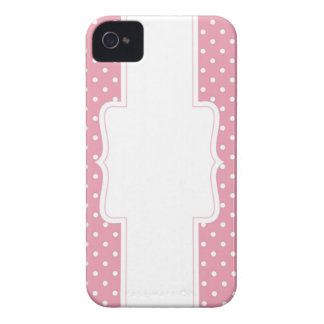 Möhippa eller baby shower för rosa polka dots iPhone 4 fodral