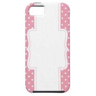 Möhippa eller baby shower för rosa polka dots iPhone 5 Case-Mate fodraler