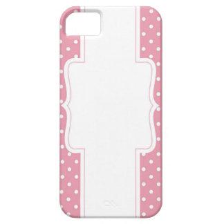 Möhippa eller baby shower för rosa polka dots iPhone 5 skydd