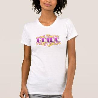 möhippa för bröllop för bachelorette för blommabru tshirts