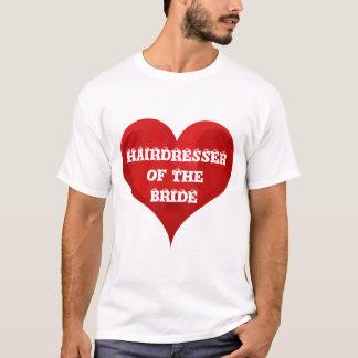 Möhippa för bröllop för hjärta för frisörbrudhår tee