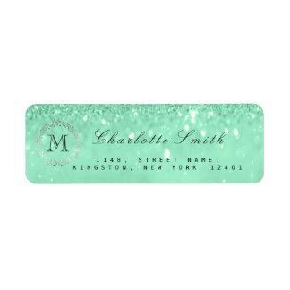 Möhippa för OSA för grönt för Mint för Returadress Etikett