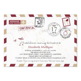 Möhippa för världshandelsresande flygpost | 12,7 x 17,8 cm inbjudningskort
