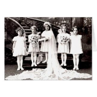 Möhippa för Victorianfotobröllop eller duschkort Hälsningskort