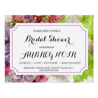 Möhippa för vingård- eller vinodlingbröllop vykort