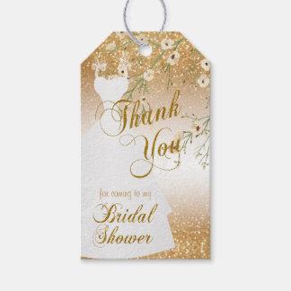 Möhippa i guld- tack för glitter | presentetikett