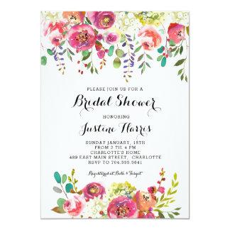 Möhippa rosablommor 12,7 x 17,8 cm inbjudningskort