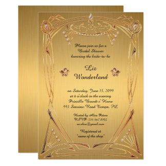 Möhippa som hedrar, underbara Gatsby, GULD 12,7 X 17,8 Cm Inbjudningskort