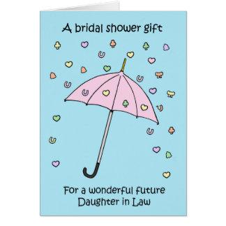Möhippagåva för den framtida dottern i lag hälsningskort
