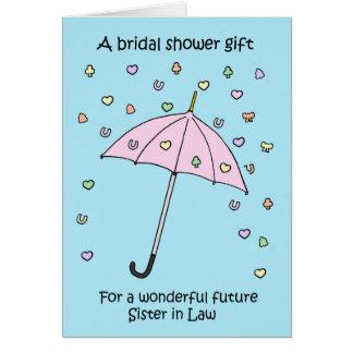 Möhippagåva för den framtida systern i lag hälsningskort