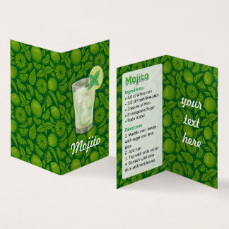Mojito recept visitkort