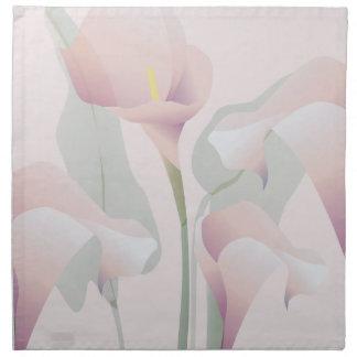 MoJo för amerikan för lilja för rosa Calla blom- Tygservett