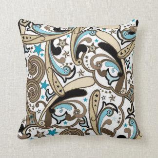 MoJo för CowgirlPaisley turkos dekorativ kudde