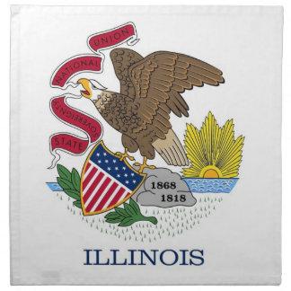 MoJo för Illinois statlig flaggaamerikan servett
