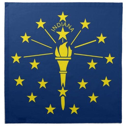 MoJo för Indiana statlig flaggaamerikan servett