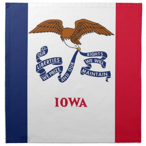 MoJo för Iowa statlig flaggaamerikan servett
