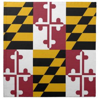 MoJo för Maryland statlig flaggaamerikan servett