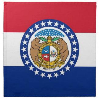 MoJo för Missouri statlig flaggaamerikan servett