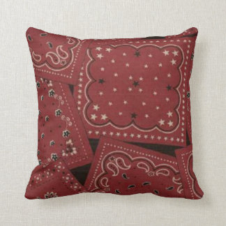 MoJo för mönster för Bandana för landladugård röd Kudde