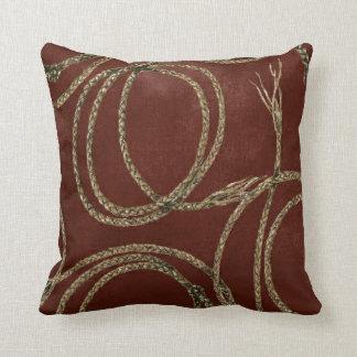 MoJo för mönster för Cowgirlvinrep dekorativ kudde