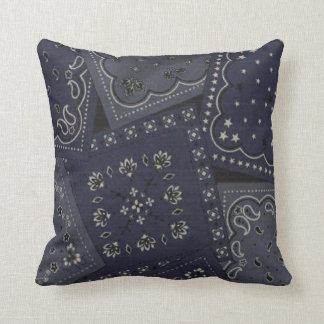 MoJo för mönster för landblåttBandana dekorativ Kudde