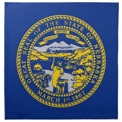 MoJo för Nebraska statlig flaggaamerikan servett