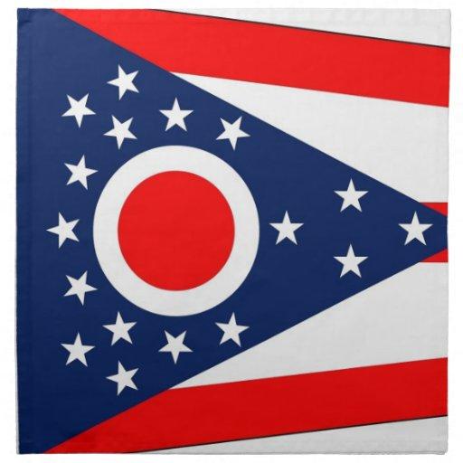 MoJo för Ohio statlig flaggaamerikan servett