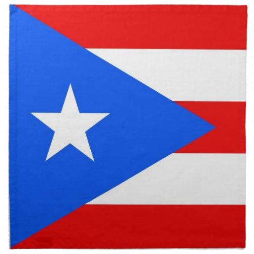 MoJo för Puerto Rico statlig flaggaamerikan servet Näsdukar