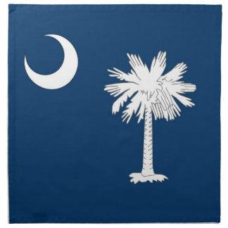 MoJo för South Carolina statlig flaggaamerikan ser Servetter Med Tryck