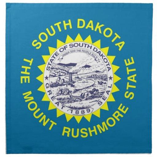 MoJo för South Dakota statlig flaggaamerikan serve Näsdukar