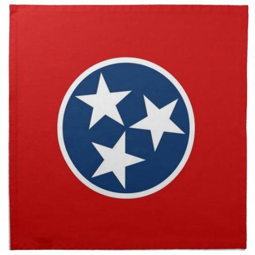 MoJo för Tennessee statlig flaggaamerikan servett
