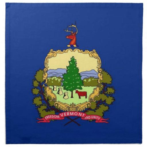 MoJo för Vermont statlig flaggaamerikan servett