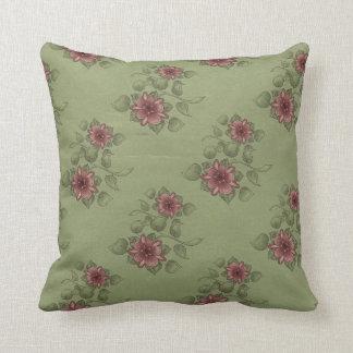 MoJo för vintageroträdgård dekorativ kudde