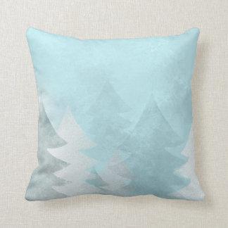 MoJo för vinterblåttjulgranar dekorativ kudde