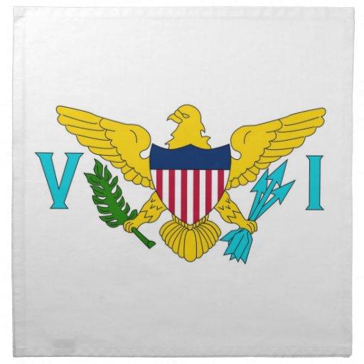 MoJo för Virgin Islands flaggaamerikan servett