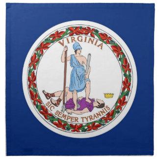MoJo för Virginia statlig flaggaamerikan servett