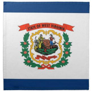 MoJo för West Virginia statlig flaggaamerikan serv Servetter Med Tryck
