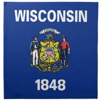 MoJo för Wisconsin statlig flaggaamerikan servett