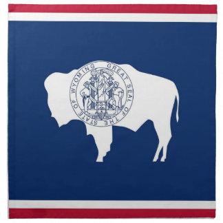 MoJo för Wyoming statlig flaggaamerikan servett