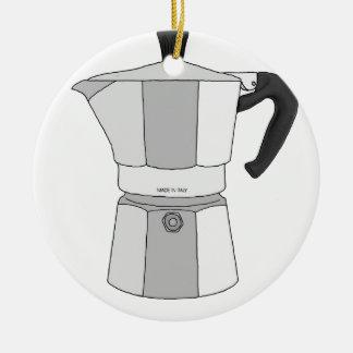 Moka kaffekruka julgransprydnad keramik